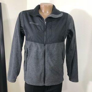 Columbia Sportswear Grey Black Fleece Youth 12/14